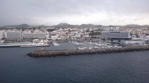 Arriving at Ponta Delgada